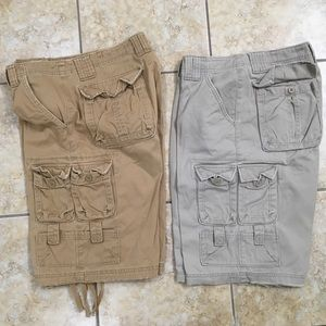 2 Pair Lee Dungarees Cargo Shorts